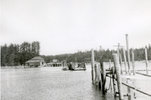 Before the bridge was constructed Bullards Ferry would carry people and cargo across the Coquille River.